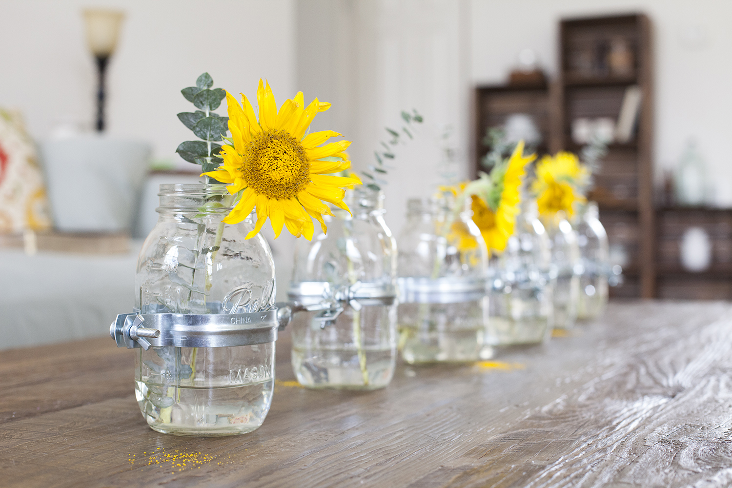 Awesome Mason Jar Home Decor Ideas Part - 10: Offbeat + Inspired