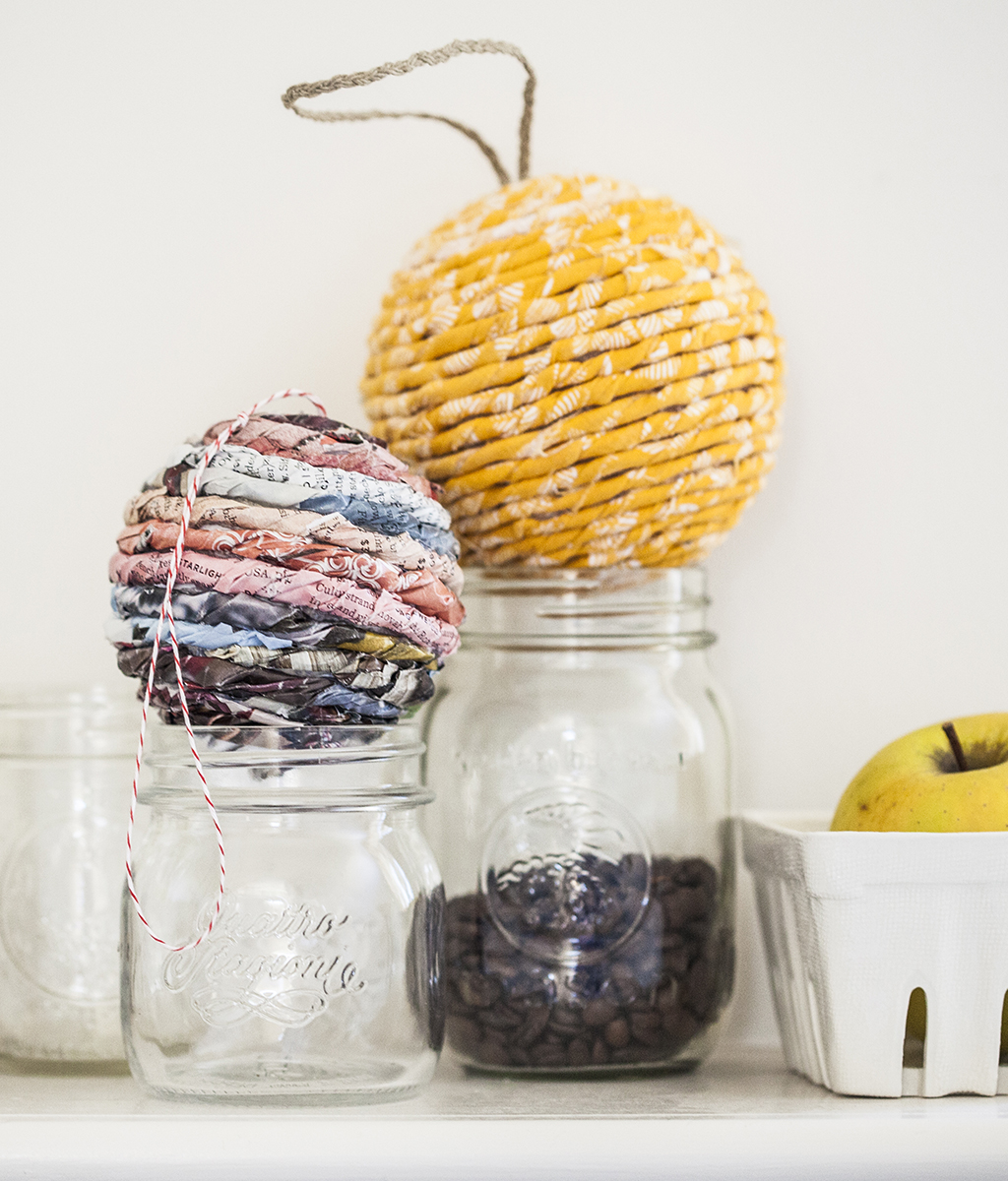 Easy DIY Wrapped Ball Ornament